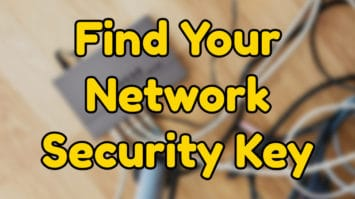 Find Your Network Security Key