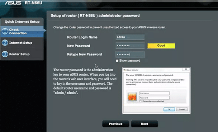 login to your router