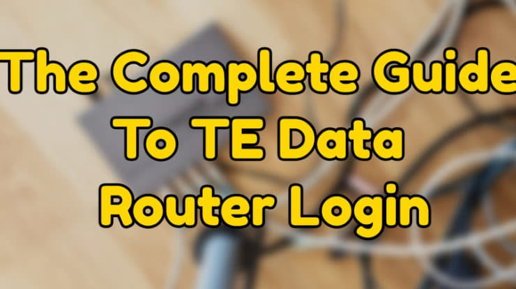TE Data router login