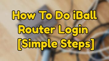 how to do iball router login