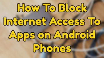 block internet access to apps on android