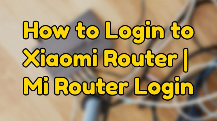 how to do mi router login