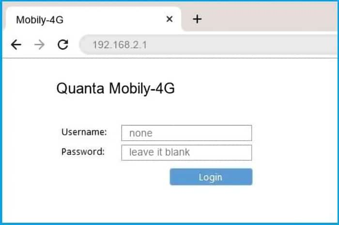 Log Into Mobily 4G Router