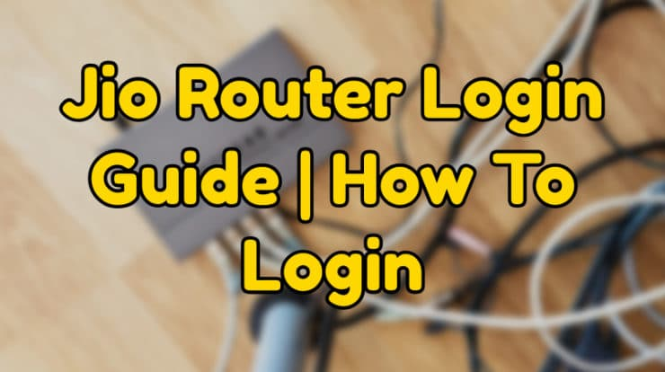 jio router login