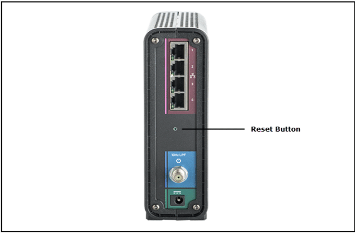 reset button of router