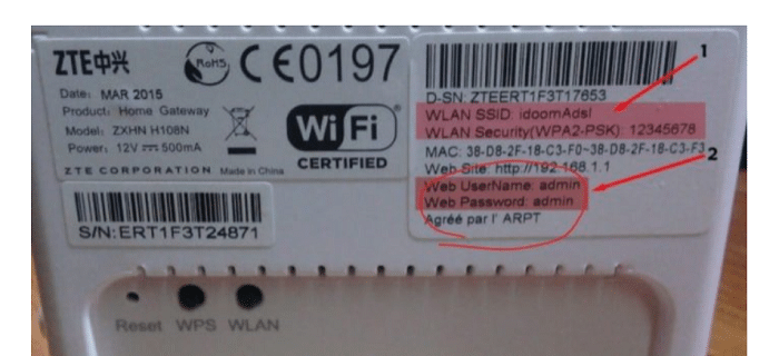 credentials on the body of the router